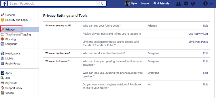 "Help Myself - Facebook Privacy Review2"" ""height="